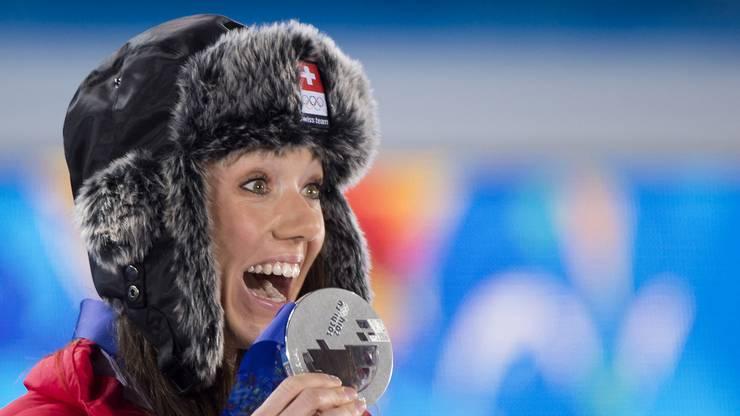 An den Olympischen Spielen in Sotschi holt Selina Gasparin Silber.