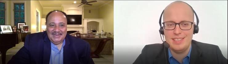 Martin Luther King III im Gespräch mit CH-Media-Redaktor Benjamin Weinmann.
