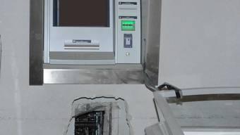 Geknackter Bancomat in Lupfig