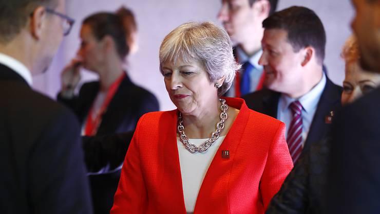 Die EU-Staats- und Regierungschefs und Theresa May.