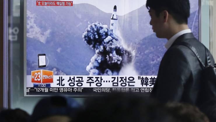 Das südkoreanische Militär will in Nordkorea Aktivitäten bemerkt haben, die auf einen baldigen Start von Langstreckenraketen hinweisen könnten. (Archivbild)