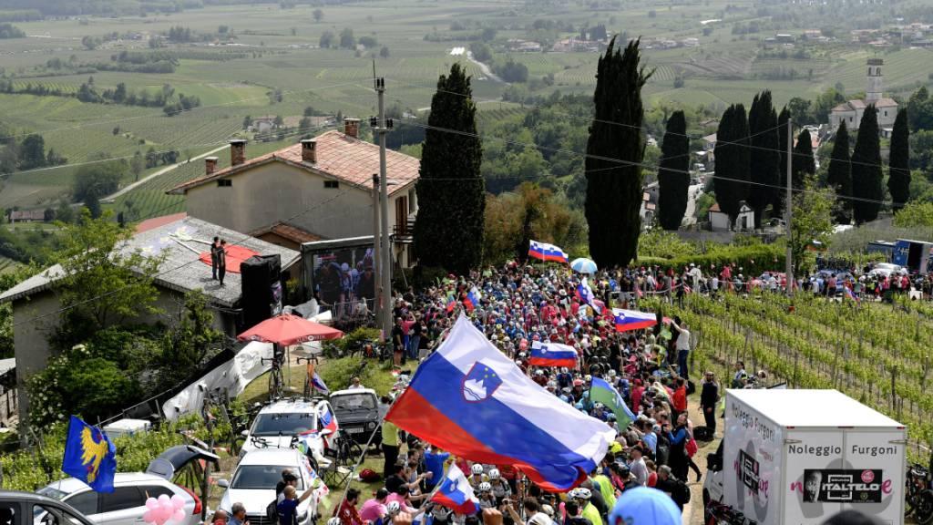 Der Giro d'Italia sorgt bei seinem kurzen Abstecher nach Slowenien für riesige Begeisterung