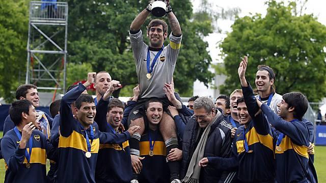 Die Boca Juniors wollen auf der Buchlern ihren Titel verteidigen.