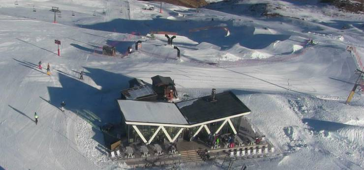 Der Snowpark Corviglia in St. Moritz.