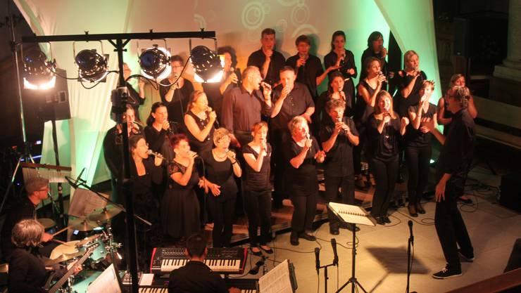 Der Swiss Gospel Choir unter der Leitung von Marc Vogel