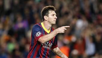 Barcelonas Lionel Messi mit zwei Toren gegen Milan.