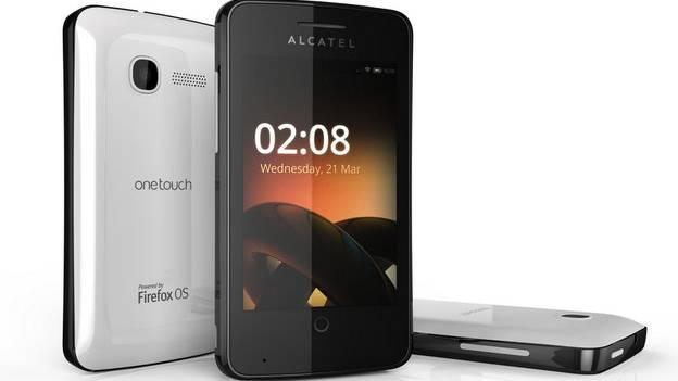 OneTouch, das Firefox-Smartphone von Alcatel, das in Barcelona vorgestellt wurde.