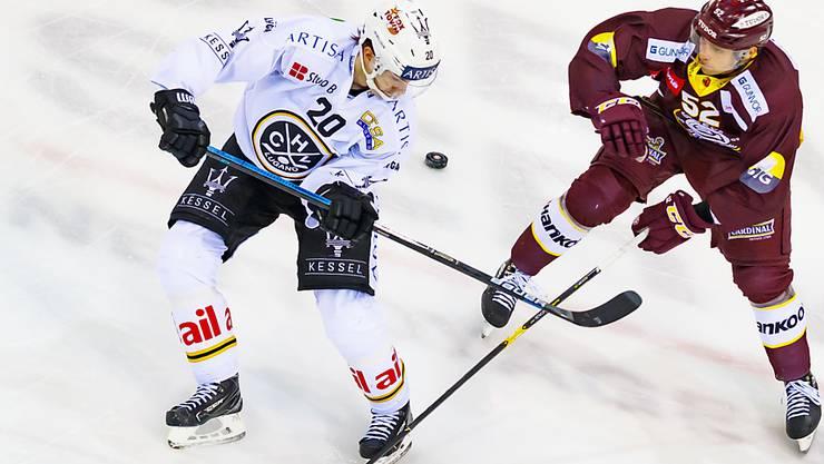 Henrik Haapala (links) steht dem HC Lugano vorderhand nicht zur Verfügung