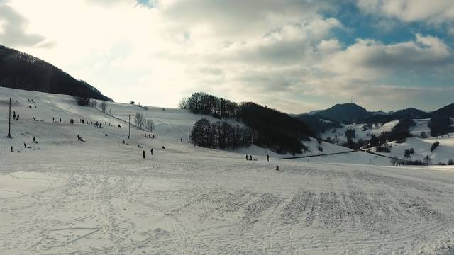 Die Staffelegg im winterlichen Weiss.