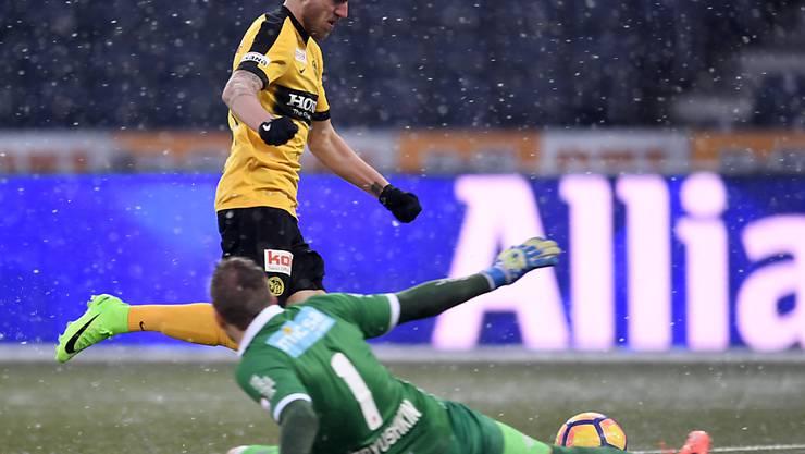 YB-Offensivspieler Thorsten Schick erzielt am Sonntag das 3:0 gegen Sion