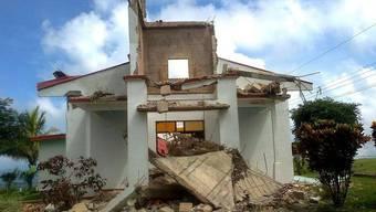 Eine zerstörte Kirche in Nandayure