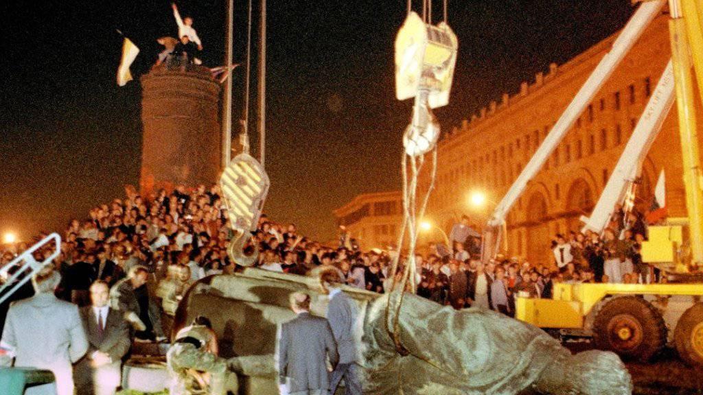 Das Denkmal Dserschinskis wurde 1991 abgetragen (Archiv)