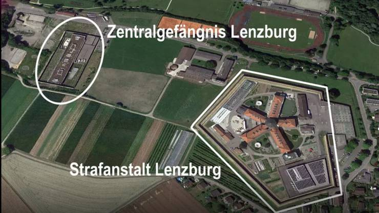 Es liegt 300 Meter von der Strafanstalt entfernt - beide gehören zur Justizvollzugsanstalt Lenzburg.