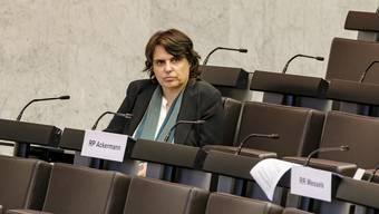 Die Basler Regierungspräsidentin Elisabeth Ackermann (Grüne) musste am Mittwoch den geeinten Angriff der Bürgerlichen über sich ergehen lassen.