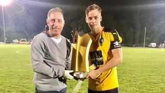 Vor der Saison gewann Philipp Breu (r.) den Wasserämter Cup mit dem FC Gerlafingen,