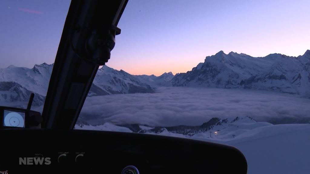 Grindelwald-Männlichen: Lawinensprengung macht die Pisten sicher