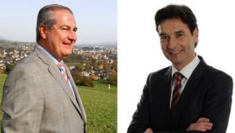 So präsentieren sich die beiden Kandidierenden für das Grenchner Stadtpräsidium: Boris Banga (links) und François Scheidegger (rechts)auf ihrer Homepage