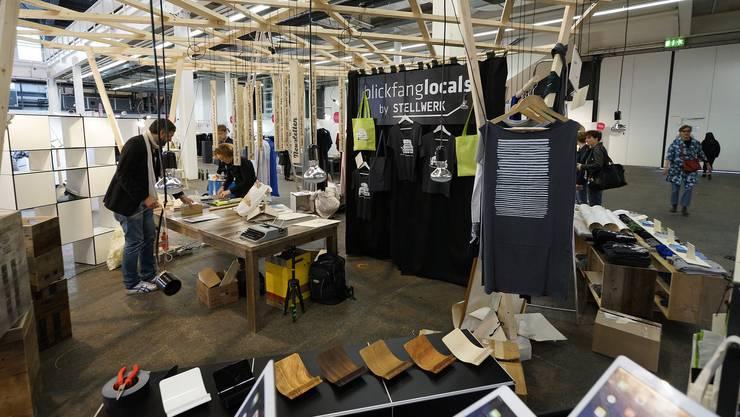 Lokale Designer an der blickfang Basel in der Halle 3 der Messe