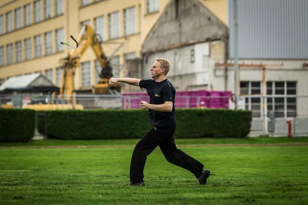 Stephan Spirgi beim Training