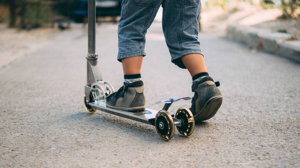 Kickboard Unfall Kind