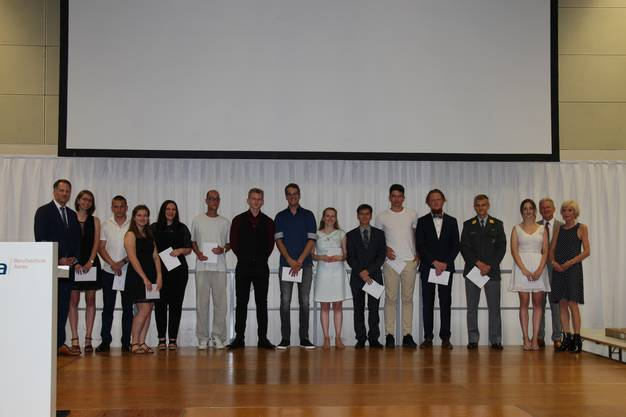 Diplomfeier der Berufsschule Aarau BSA am 28. Juni 2019.
