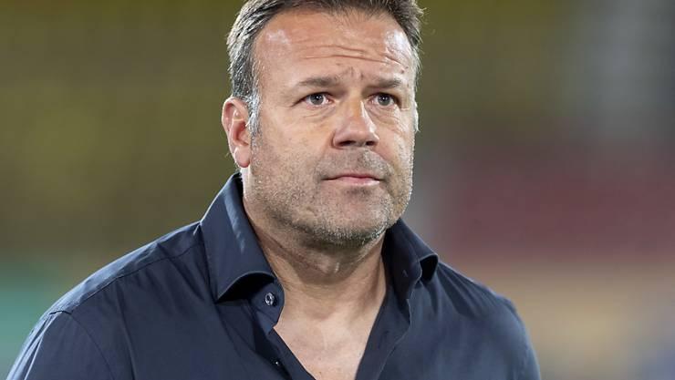 Aufatmen bei Aaraus Trainer Patrick Rahmen nach dem ersten Saisonsieg