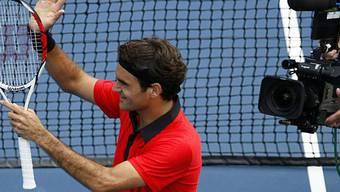 Federer im Auge der Kameras (US-Open)