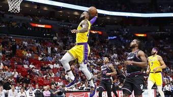 LeBron James liefert gegen die Miami Heat eine vorzügliche Vorstellung