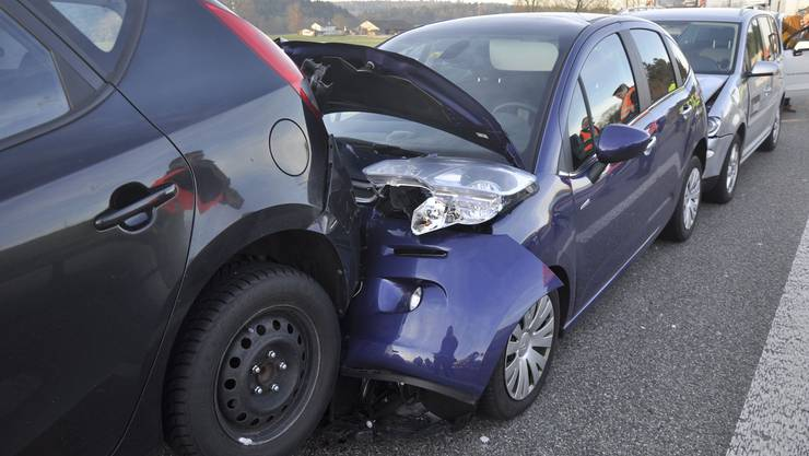Am Unfall waren sechs Autos beteiligt.