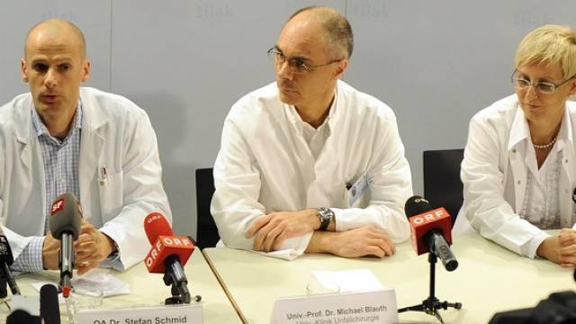 Die Innsbrucker Ärzte-Crew hat Daniel Albrecht bestens betreut