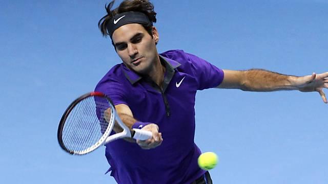 Roger Federer hatte gegen Janko Tipsarevic leichtes Spiel