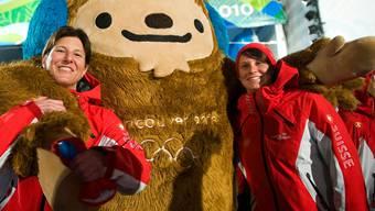 2010 sind mitTanja Schärer (r.) und Evelyn Leu noch zwei Skiakrobatinnen an den Olympischen Spielen.