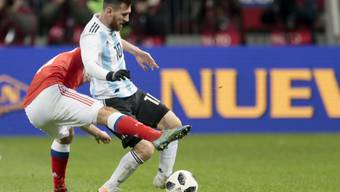 Lionel Messi gastierte mit Argentinien im Luschniki-Stadion in Moskau, wo 2018 das WM-Eröffnungsspiel sowie der WM-Final stattfinden werden