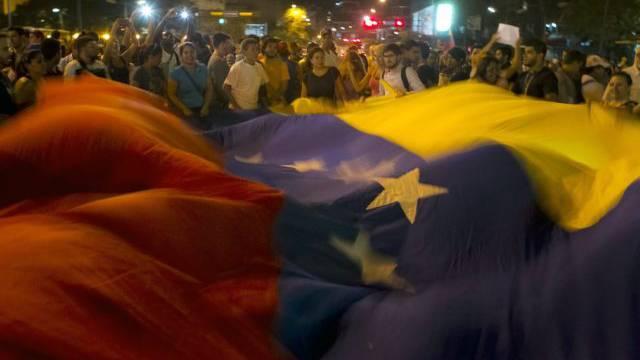 Antiregierungs-Protest in Venezuelas Hauptstadt Caracas