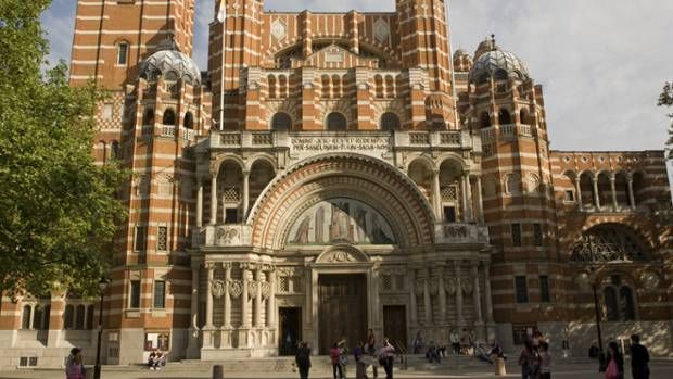 De weltbekannte Westminster-Kathedrale in London