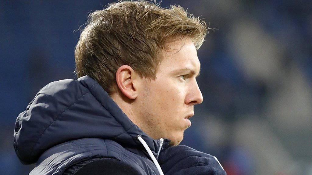 Hoffenheims Trainer Julian Nagelsmann macht nach dem Europacup-Out einen skeptischen Eindruck