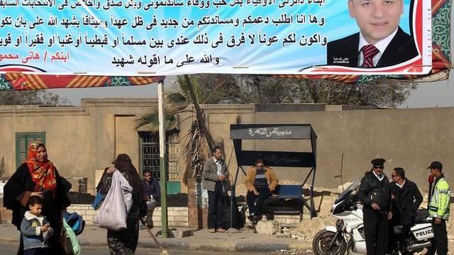 Wahlplakat eines unabhängigen Präsidentschaftskandidaten in einer Strasse von Kairo