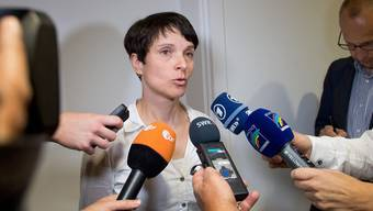 Kriseneinsatz in Stuttgart: Frauke Petry bei der AfD-Fraktion im baden-württembergischen Landtag.