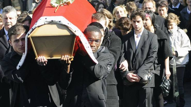 Beerdigung von Lucie Trezzini in Lausanne am 16. März 2009
