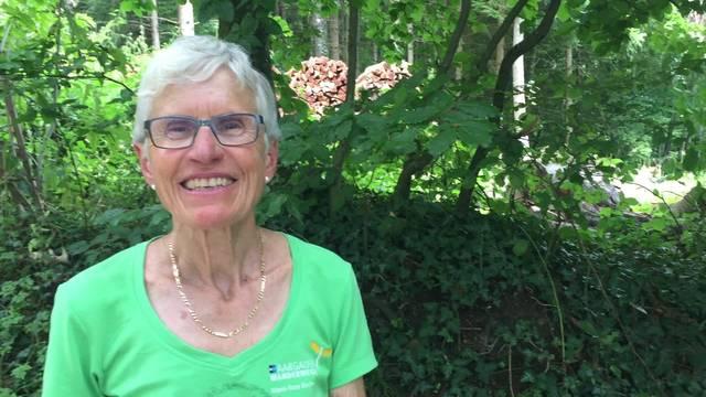 Marie-Rose Bircher, Wanderleiterin auf der 9. Etappe
