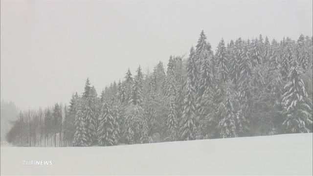 Alpen versinken in Schnee