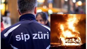 Drei Autos der Sip wurden in Brand gesetzt (Symbolbild).