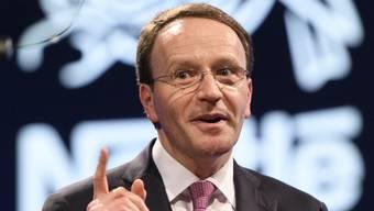 Nach den Forderungen des US-Investors Daniel Loeb lanciert Nestlé einen Gegenangriff. Im Bild: Nestlé-Chef Ulf Mark Schneider. (Archiv)