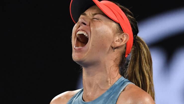 Schrei ins Glück: Maria Scharapowa findet am Australian Open zu alter Stärke zurück