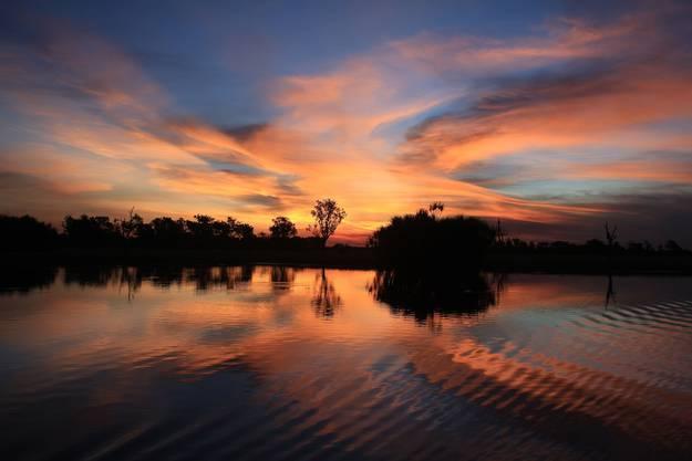 Natur pur - Sonnenuntergang im Outback