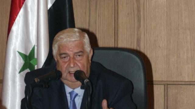 Der syrische Aussenminister al-Muallim ignoriert die Existenz Europas