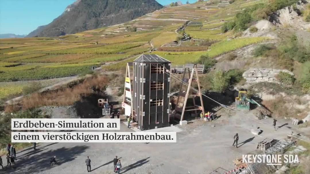 Holzbau hält schwerem Erdbeben im Test stand