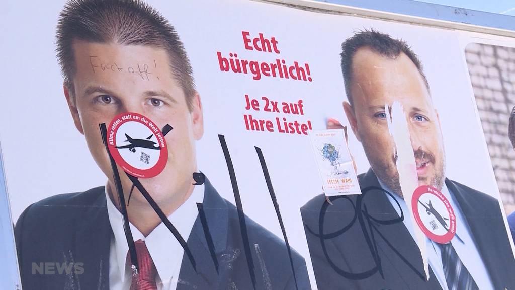 Wahlplakat-Vandalismus: SVP setzt Kopfgeld aus