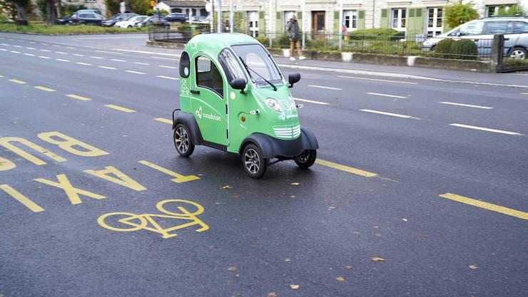 In Biel fahren die Elektro-Rollstühle von Enuu schon.