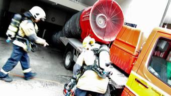 Tunnellüfter der Berufsfeuerwehr Basel im Einsatz